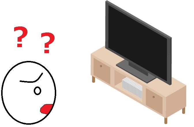 テレビ画面がフリーズした
